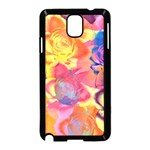 Pop Art Roses Samsung Galaxy Note 3 Neo Hardshell Case (Black) Front