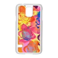 Pop Art Roses Samsung Galaxy S5 Case (White)
