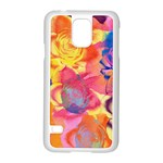 Pop Art Roses Samsung Galaxy S5 Case (White) Front
