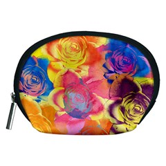 Pop Art Roses Accessory Pouches (medium)