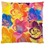 Pop Art Roses Large Flano Cushion Case (Two Sides) Back