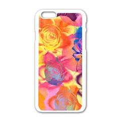 Pop Art Roses Apple iPhone 6/6S White Enamel Case