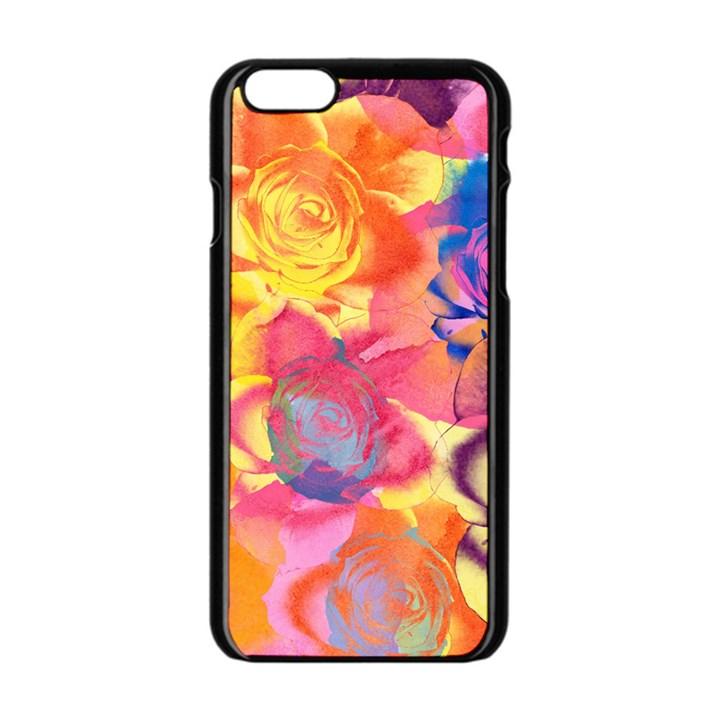 Pop Art Roses Apple iPhone 6/6S Black Enamel Case