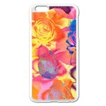Pop Art Roses Apple iPhone 6 Plus/6S Plus Enamel White Case Front