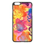 Pop Art Roses Apple iPhone 6 Plus/6S Plus Black Enamel Case Front