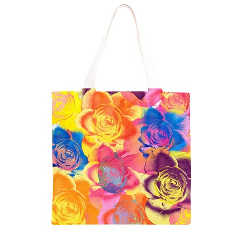 Pop Art Roses Grocery Light Tote Bag