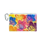 Pop Art Roses Canvas Cosmetic Bag (S) Front
