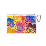 Pop Art Roses Canvas Cosmetic Bag (S) Back