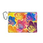 Pop Art Roses Canvas Cosmetic Bag (M) Front