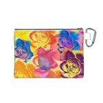 Pop Art Roses Canvas Cosmetic Bag (M) Back