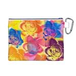 Pop Art Roses Canvas Cosmetic Bag (L) Back