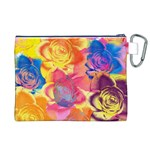 Pop Art Roses Canvas Cosmetic Bag (XL) Back