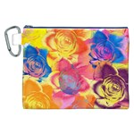 Pop Art Roses Canvas Cosmetic Bag (XXL) Front