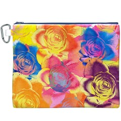 Pop Art Roses Canvas Cosmetic Bag (xxxl)