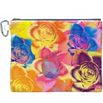 Pop Art Roses Canvas Cosmetic Bag (XXXL) Front