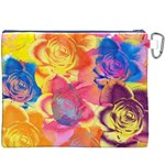 Pop Art Roses Canvas Cosmetic Bag (XXXL) Back