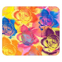 Pop Art Roses Double Sided Flano Blanket (Small)