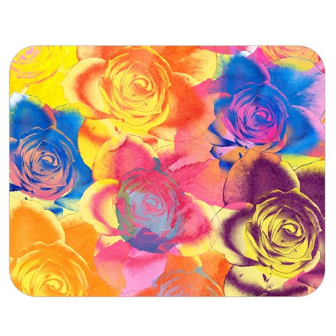 Pop Art Roses Double Sided Flano Blanket (Medium)