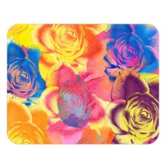 Pop Art Roses Double Sided Flano Blanket (large)