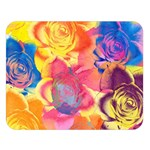 Pop Art Roses Double Sided Flano Blanket (Large)  80 x60 Blanket Front