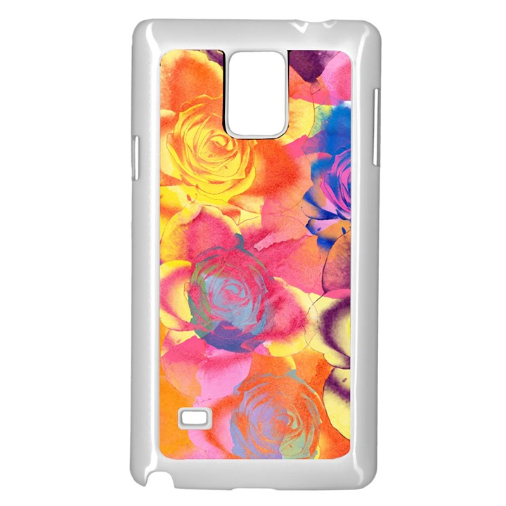 Pop Art Roses Samsung Galaxy Note 4 Case (White)