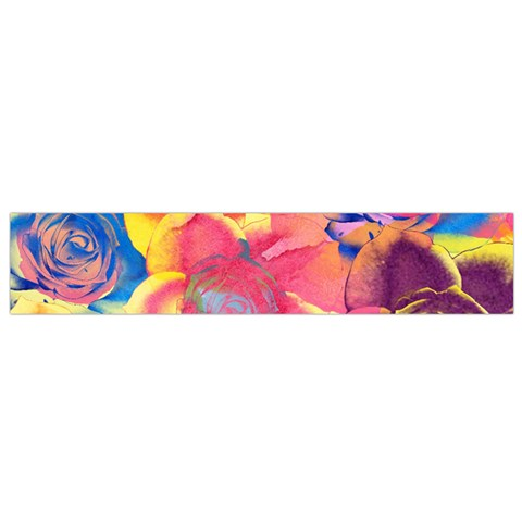 Pop Art Roses Flano Scarf (Small)