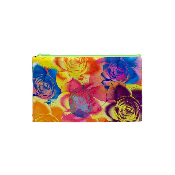 Pop Art Roses Cosmetic Bag (XS)