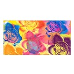 Pop Art Roses Satin Shawl Front