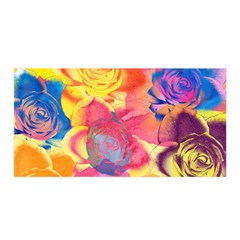 Pop Art Roses Satin Wrap