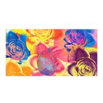 Pop Art Roses Satin Wrap Front