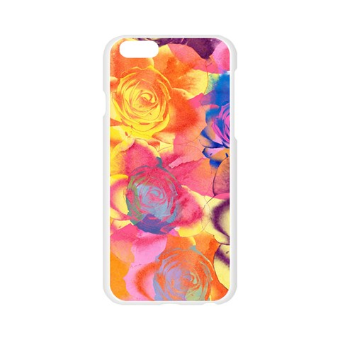 Pop Art Roses Apple Seamless iPhone 6/6S Case (Transparent)