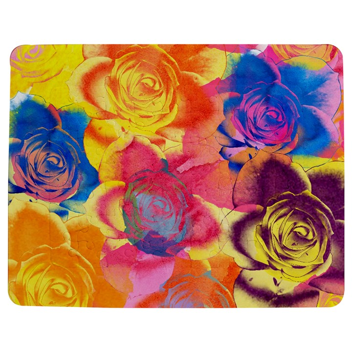 Pop Art Roses Jigsaw Puzzle Photo Stand (Rectangular)