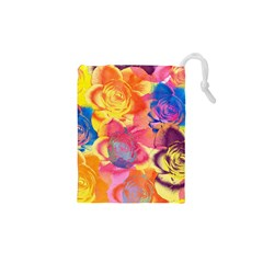 Pop Art Roses Drawstring Pouches (XS)