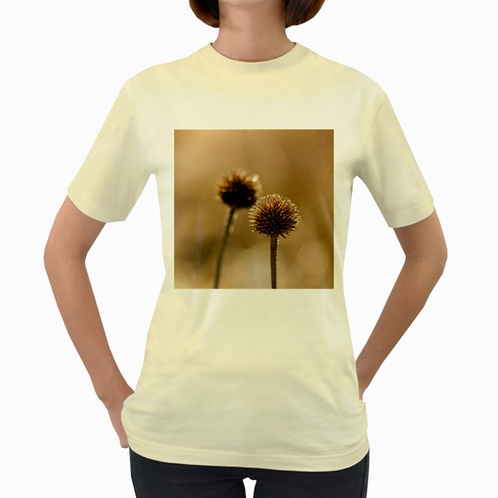 2  Verwelkte Kugeldistel Women s Yellow T-Shirt