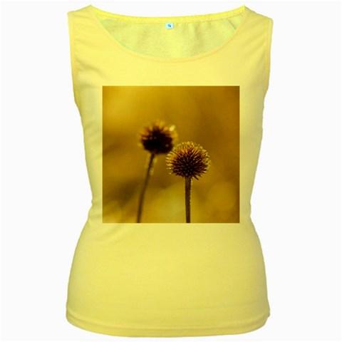 2  Verwelkte Kugeldistel Women s Yellow Tank Top