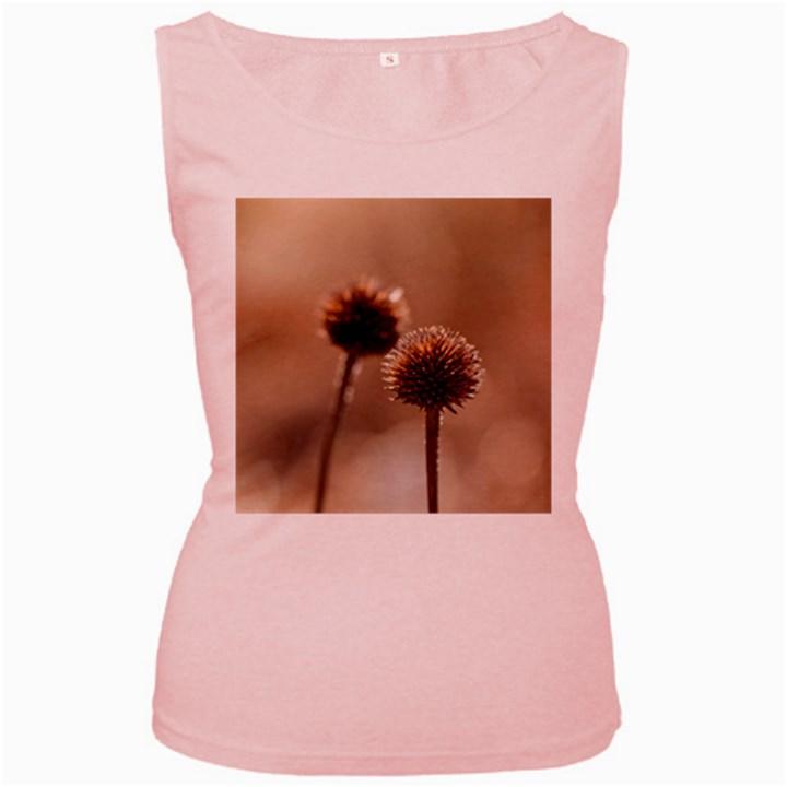 2  Verwelkte Kugeldistel Women s Pink Tank Top