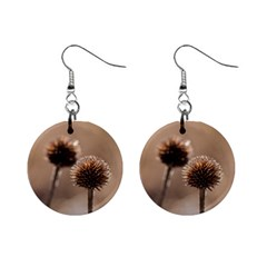 2  Verwelkte Kugeldistel Mini Button Earrings