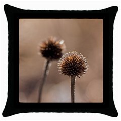 2  Verwelkte Kugeldistel Throw Pillow Case (Black)