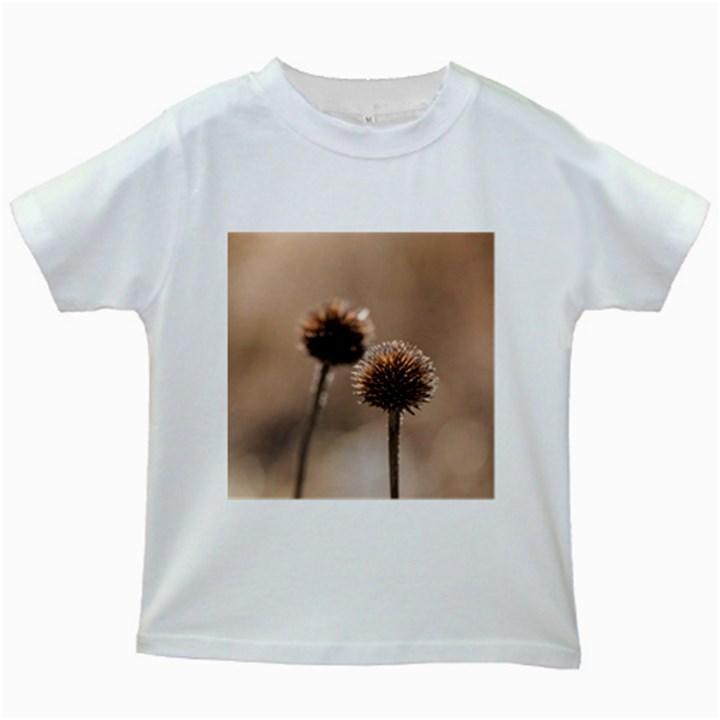2  Verwelkte Kugeldistel Kids White T-Shirts
