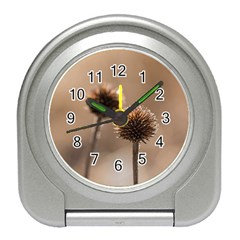 2  Verwelkte Kugeldistel Travel Alarm Clocks