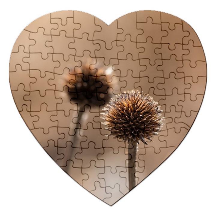 2  Verwelkte Kugeldistel Jigsaw Puzzle (Heart)
