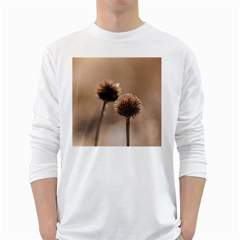 2  Verwelkte Kugeldistel White Long Sleeve T-Shirts