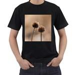 2  Verwelkte Kugeldistel Men s T-Shirt (Black) Front