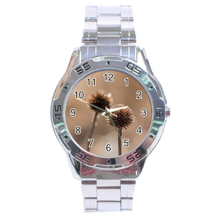 2  Verwelkte Kugeldistel Stainless Steel Analogue Watch
