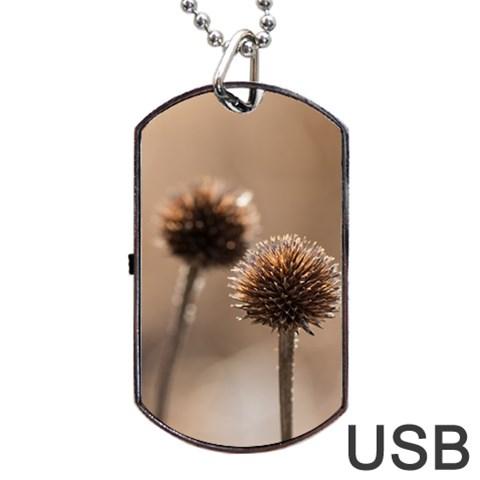 2  Verwelkte Kugeldistel Dog Tag USB Flash (One Side)