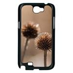 2  Verwelkte Kugeldistel Samsung Galaxy Note 2 Case (Black) Front