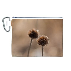 2  Verwelkte Kugeldistel Canvas Cosmetic Bag (l)