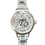 Pierce The Veil Music Band Group Fabric Art Cloth Poster Round Italian Charm Watch Front