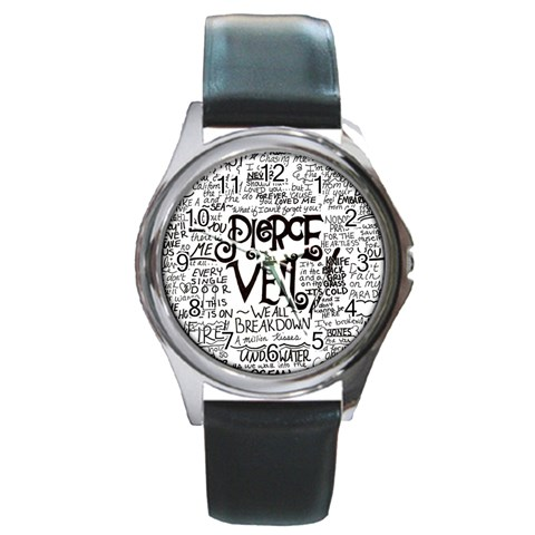 Pierce The Veil Music Band Group Fabric Art Cloth Poster Round Metal Watch