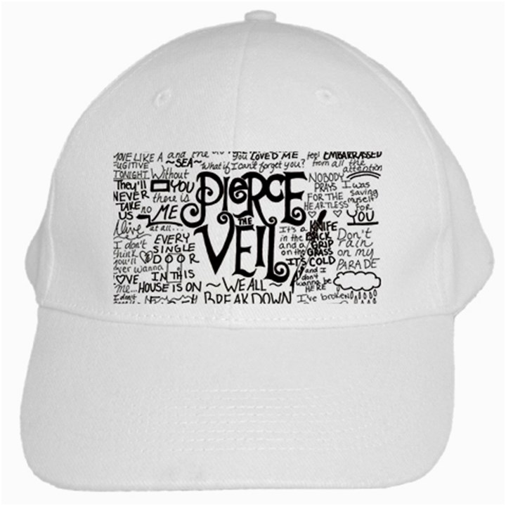 Pierce The Veil Music Band Group Fabric Art Cloth Poster White Cap